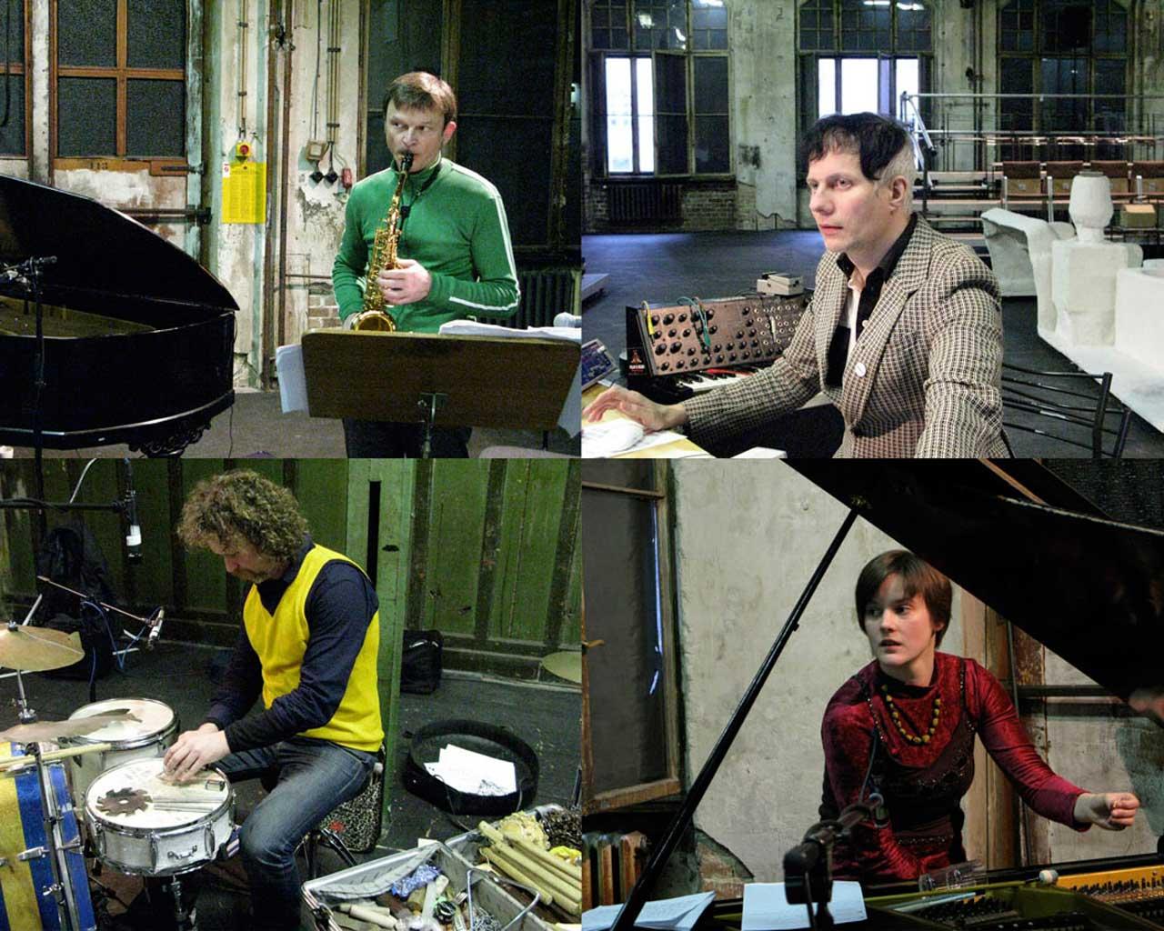 Ensemble Intégrales & Felix Kubin (Photo: Mirjam Staub), Echohaus