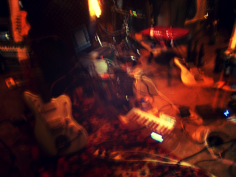 Foto: The Splendid Ghetto Pipers im Aufnahmeraum
