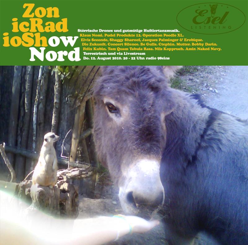 """Eine Ausgabe der Zonic Radio Show Nord unter dem Motto """"Esel Listening"""" - Cover-Sampling-Teaser"""