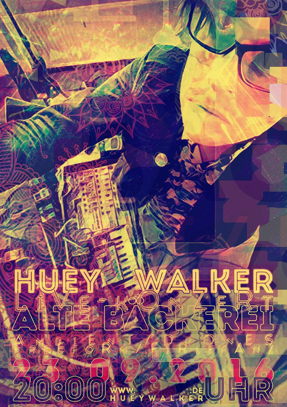 Poster: Huey Walker live in der Alten Bäckerei, Greifswald (23.09.2016)