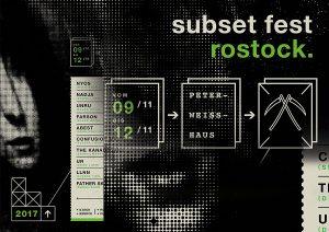 Subset Fest, Rostock (Flyer-Collage)
