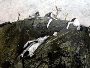 Cindy Schmid - Detail einer Malerei