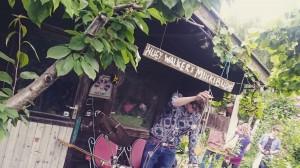 Huey Walker live im Garten bei Cindy Schmid alias swinx