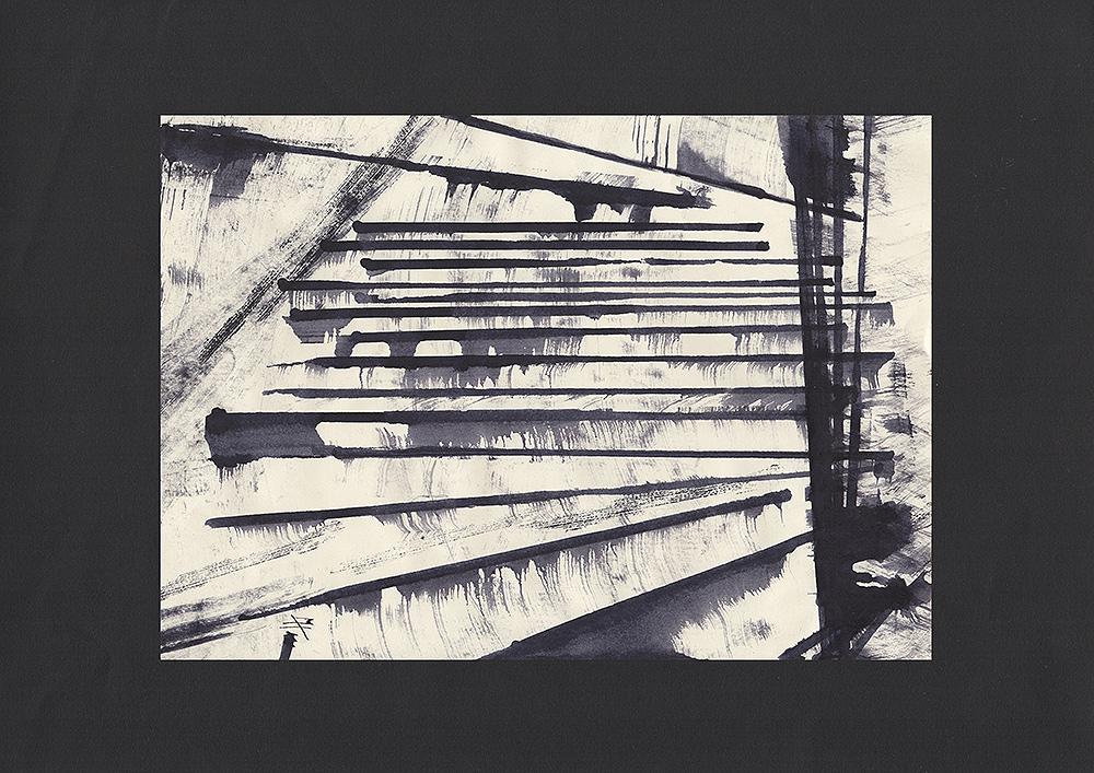 "Martin Hiller – ""Escaliers I"" (2017 / 29,7 x 21 cm)"
