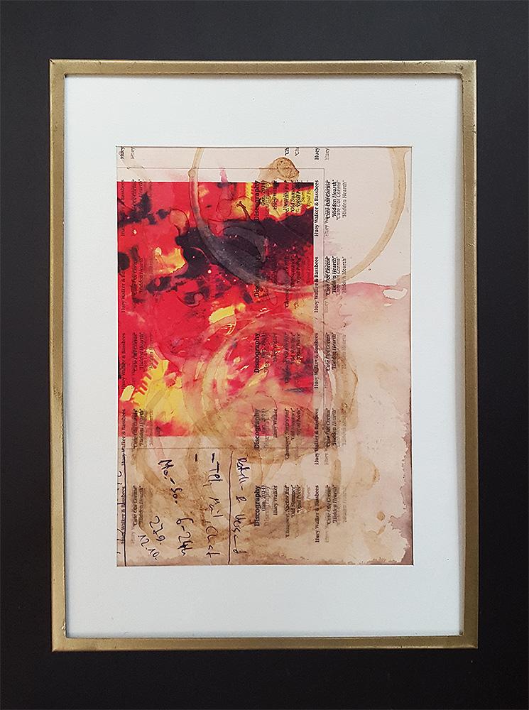 """Martin Hiller - """"Ohne TItel (Glunch-Poems)"""" (2013 / 12,4 x 17,8 cm)"""