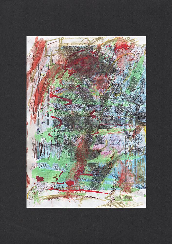 """Martin-Hiller - """"Ohne-Titel (Débauche Tamisée I)"""" (2019, 21 x 29,7 cm)"""