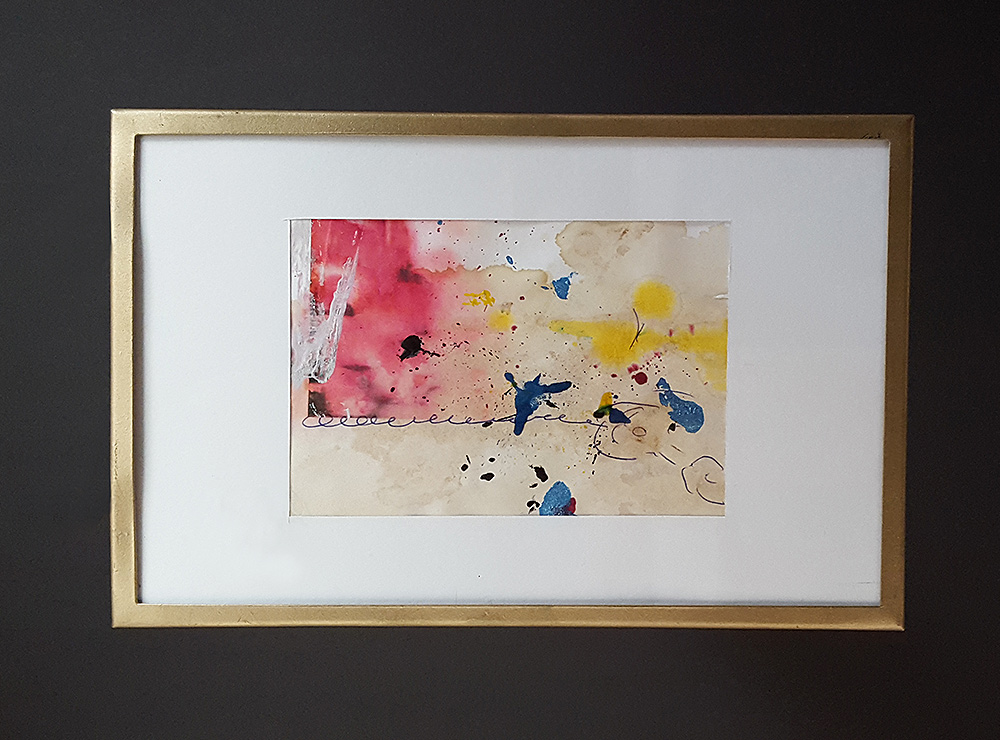 """Martin Hiller - """"Ohne Titel (Glunch Poems II) (2012/16 / 7,4 x 11 cm)"""