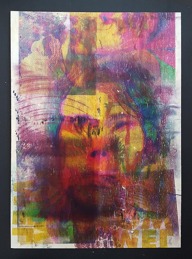 """Martin Hiller - """"Ohne Titel (Portreats VI)"""" (2019 / 42,2 x 59,5 cm)"""
