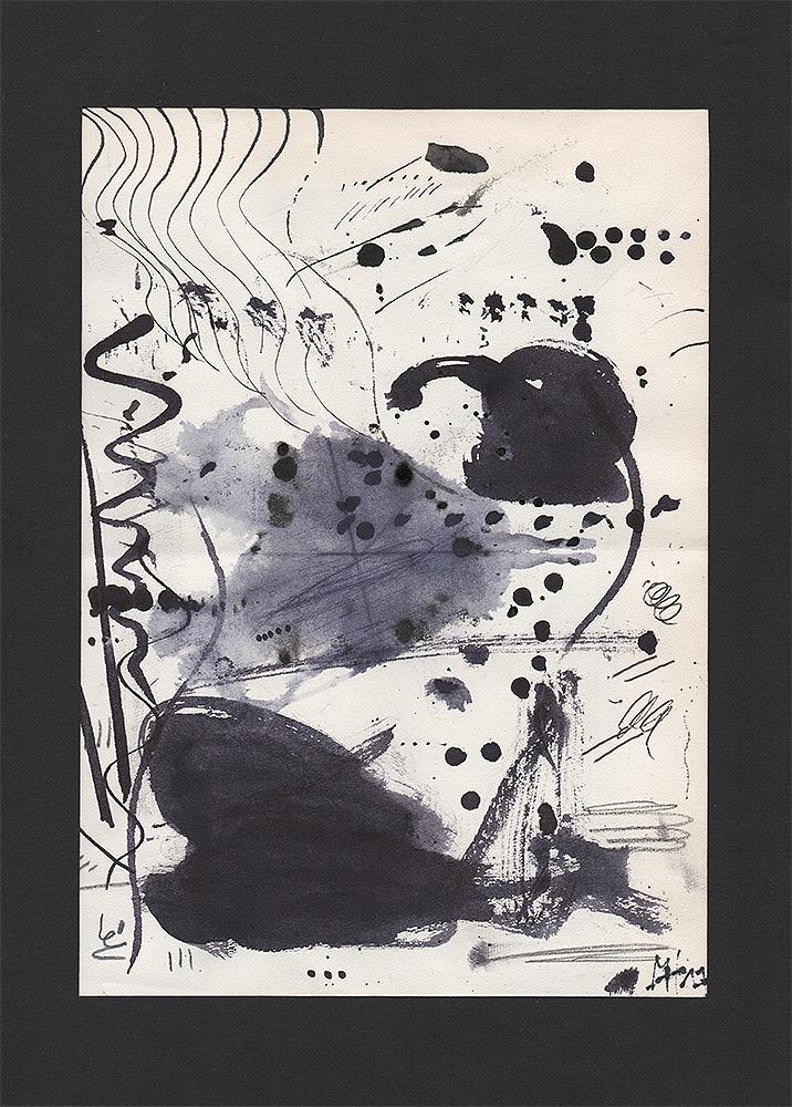 """Martin Hiller - """"Penguin Coney Arkestra"""" (2017 / 13,7 x 19,4 cm)"""