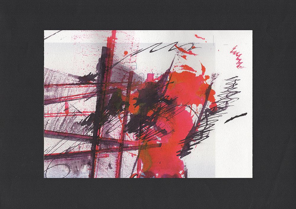 """Martin Hiller - """"Ohne Titel (Escaliers Unnumbered)"""" (2019, 20,8 x 14,4 cm)"""