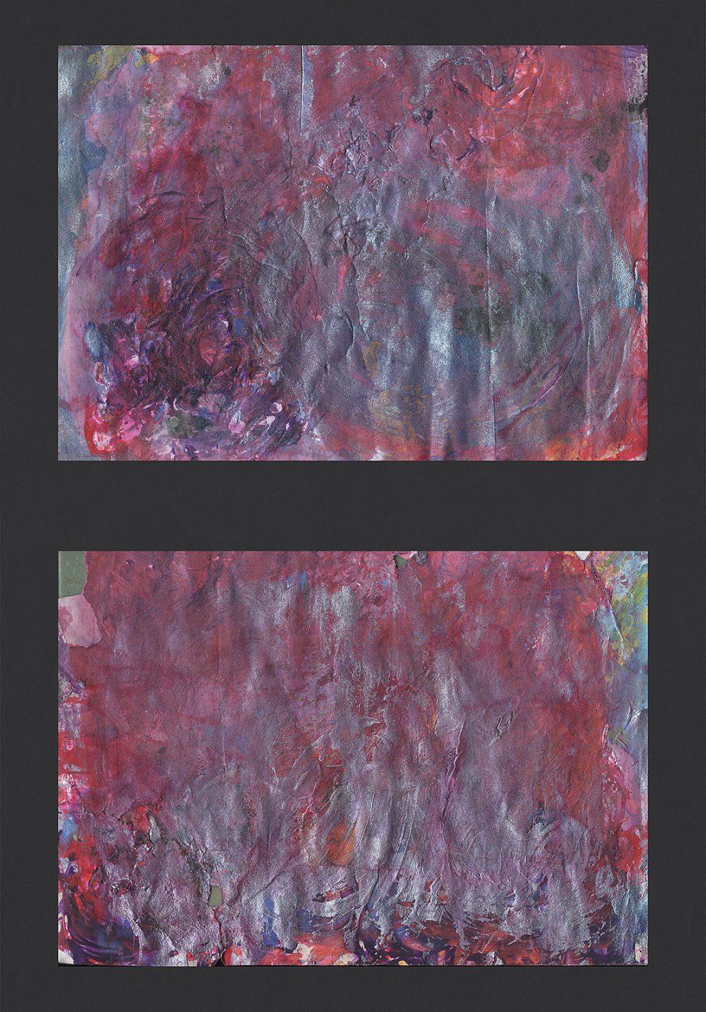 """Martin Hiller - """"My Wounded Beauty IV (Débauche Tamisée IV)"""" (20,6 x 14,5 + 20,6 x 14,5 cm, 2019)"""