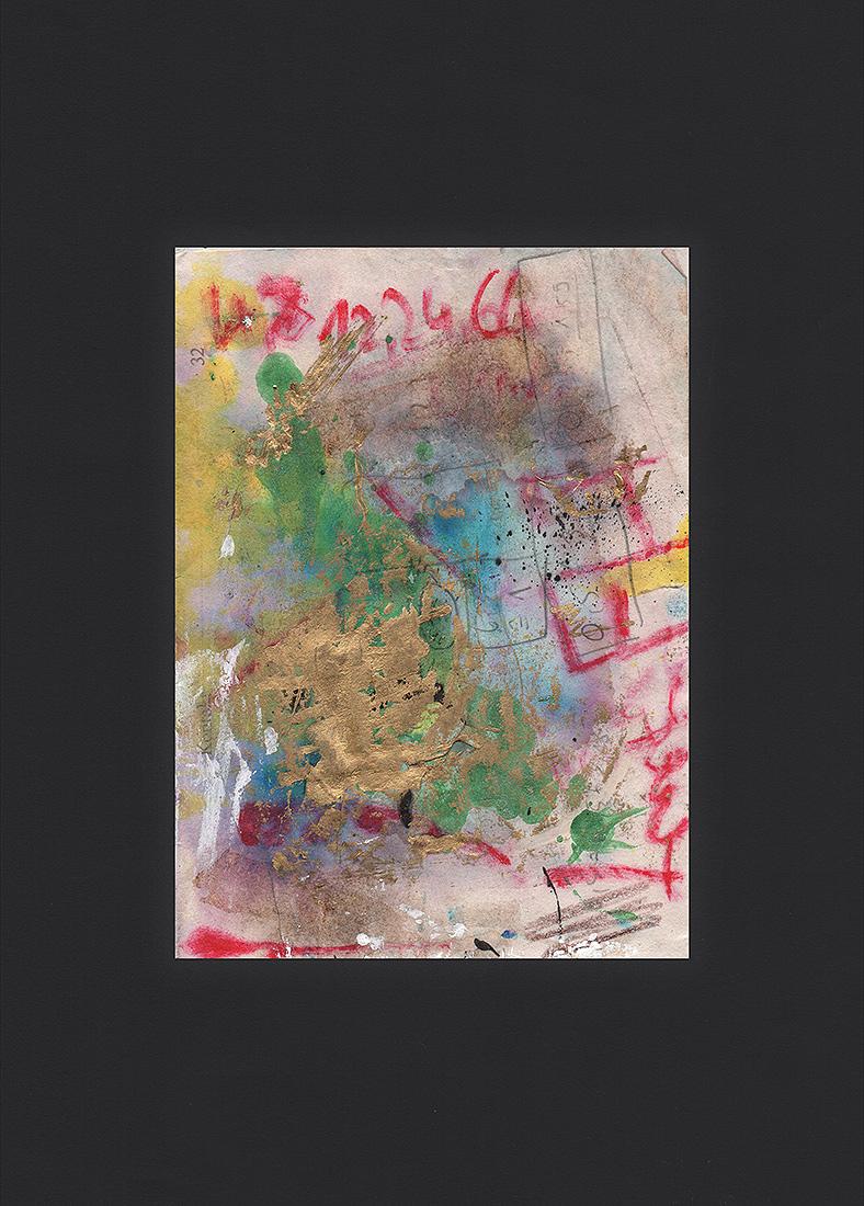 """Martin Hiller - """"Ohne Titel (Glunch Poems IX)"""" (2018 / 10,5 x 14,5 cm)"""