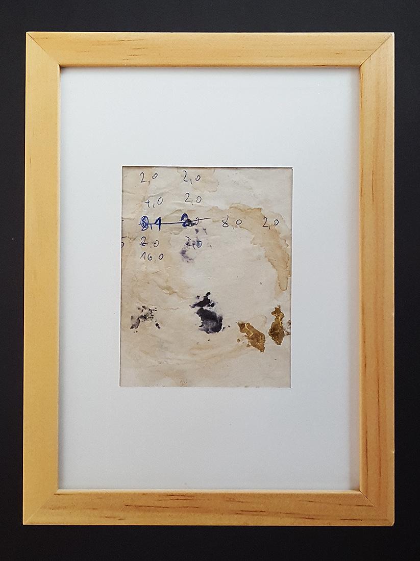 """Martin Hiller - """"Ohne Titel (Glunch Poems VI)"""" (2014 / 7 x 9 cm)"""