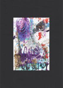 """Martin Hiller - """"Ohne Titel (Glunch Poems XI)"""" (2018 / 10,1 x 14,8 cm)"""