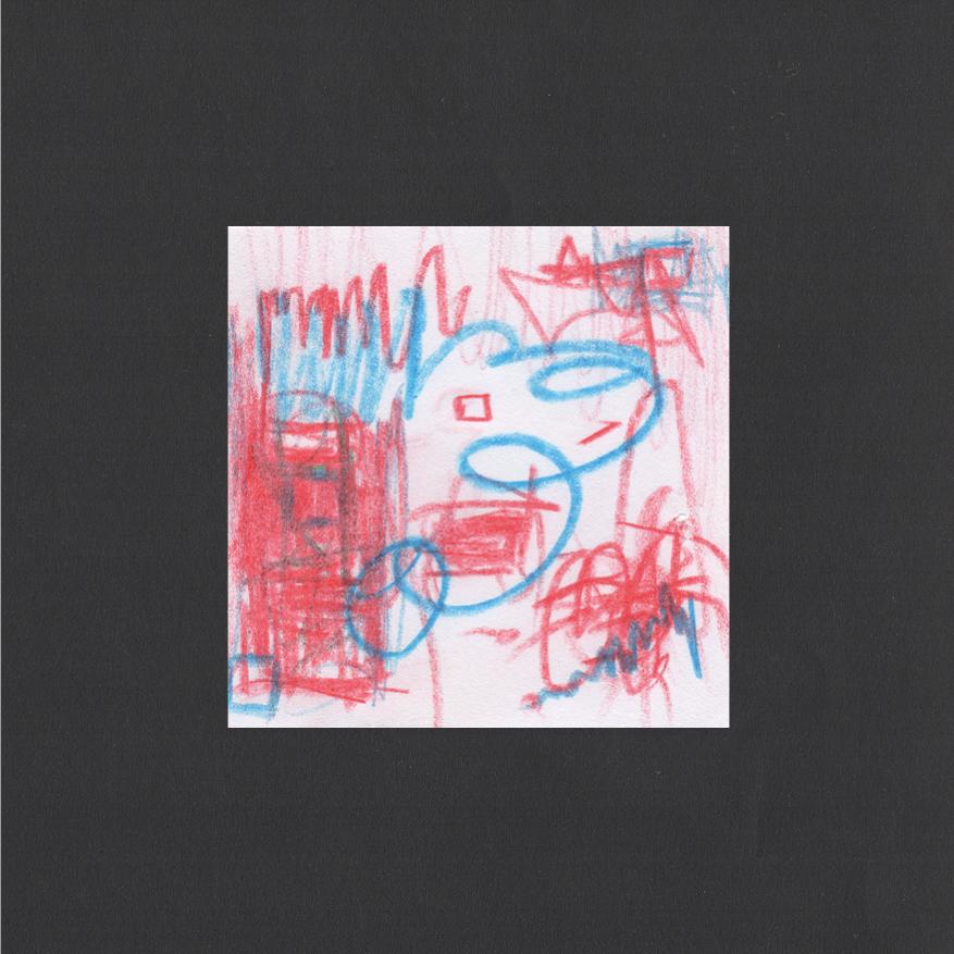 "Huey Walker - ""Hurley Wakes"", pc. 001 (8 x 8 cm, 2019)"