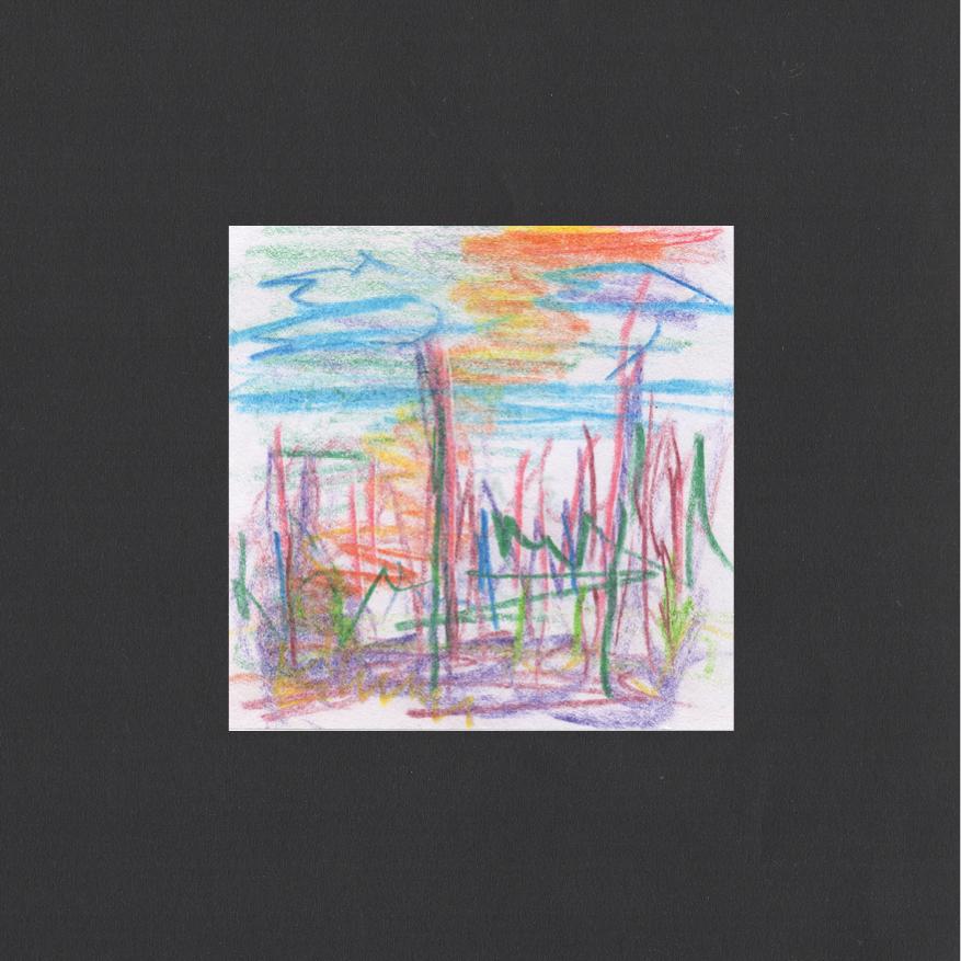 "Huey Walker - ""Hurley Wakes"", pc. 009 (8 x 8 cm, 2019)"
