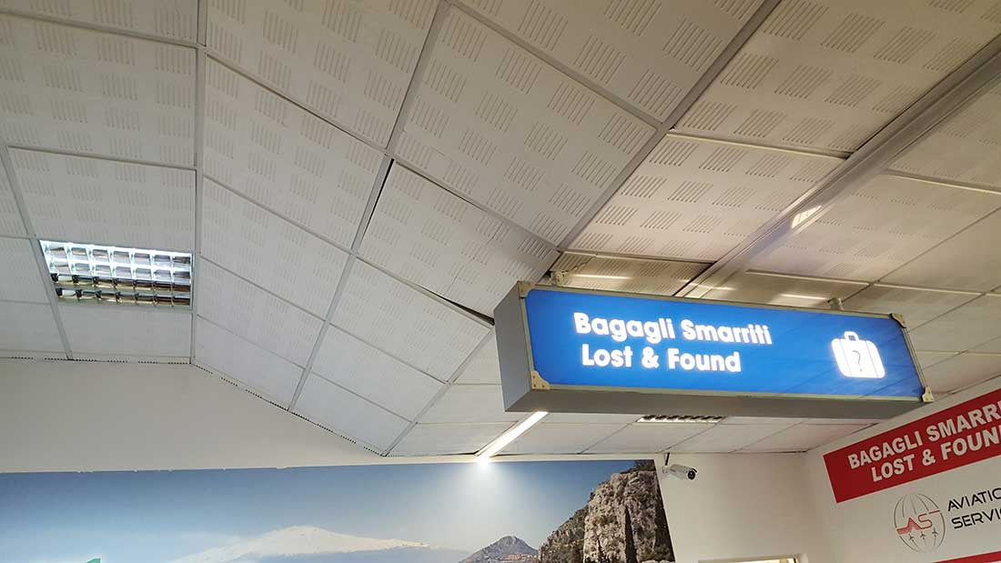 Lost Baggage-Schalter in Catania