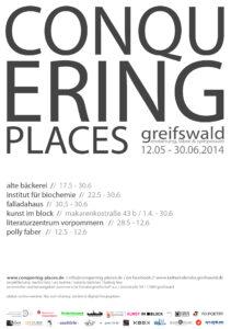 Conquering Places - Plakat