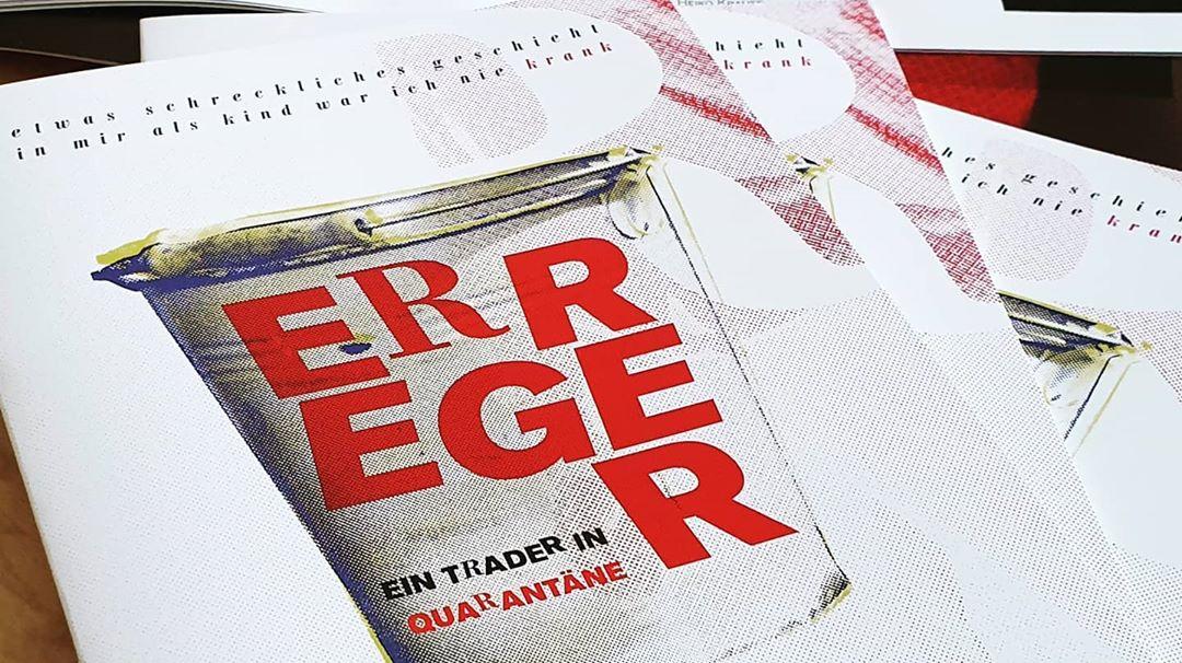 """Programmheft für """"Erreger"""" von Albert Ostermaier, Aufführung im StuThe in Greifswald"""