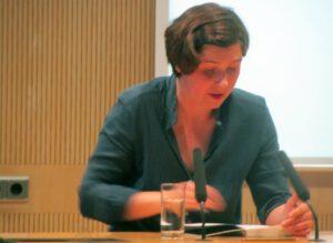 Judith Schalansky in Greifswald, 2015 (Foto: Fleischervorstadt-Blog)
